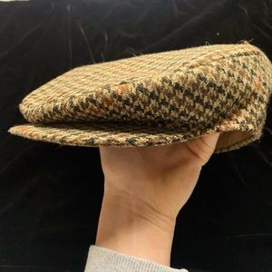 Vintage Dunn & Co hand woven tweed flat cap